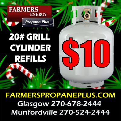 $10 GRILL CYLINDER REFILLS